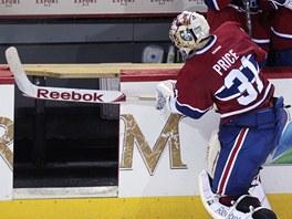 K... P... Z... Na�tvan� brank�� Carey Price z Montrealu Canadiens.