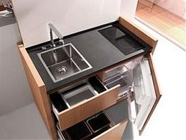 V zahraničí lze narazit na luxusní modely malých kuchyněk, které stojí v