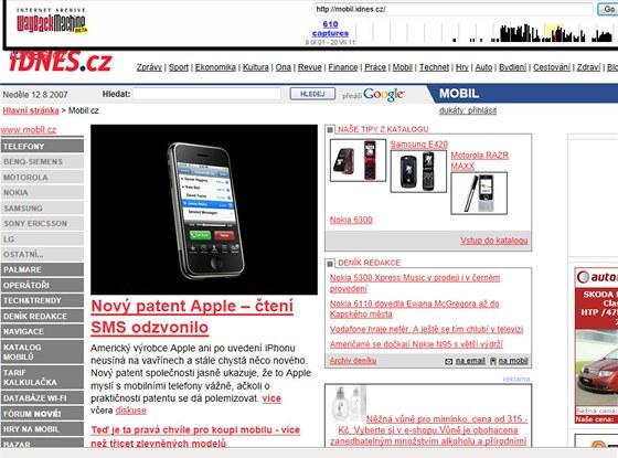 Mobil.cz z v roce 2007