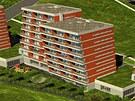 Studie nových nakloněných bytovek, které vyrostou v Kotíkovské ulici v Plzni.