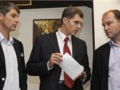Bývalý oštěpař Jan Železný, místopředseda olympijského výboru Jiří Kejval a