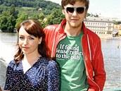 Tatiana Vilhelmová s přítelem Vojtěchem Dykem