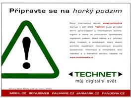 Technet.cz z v roce 2001