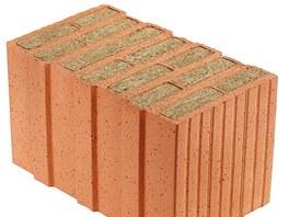 I minerální vata se dá použít pro vyplnění dutin cihelných bloků. Opět získáme