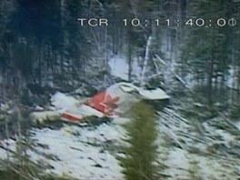 Místo nehody letounu Fokker F-28 při letu Air Ontario 1363