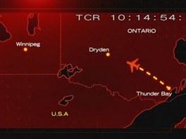 Trasa letu Air Ontario 1363