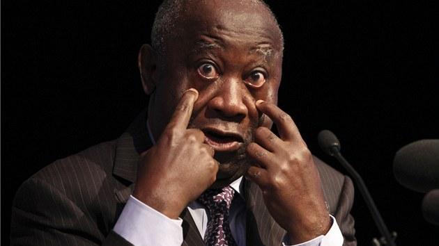 N�kdej�í prezident Pob�e�í slonoviny Laurent Gbagbo na archivním snímku