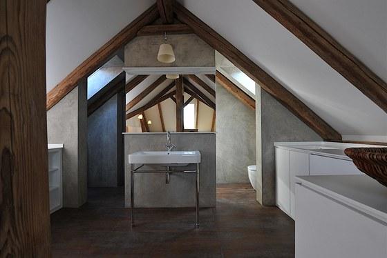 Betonepox v koupelně - rodinný dům