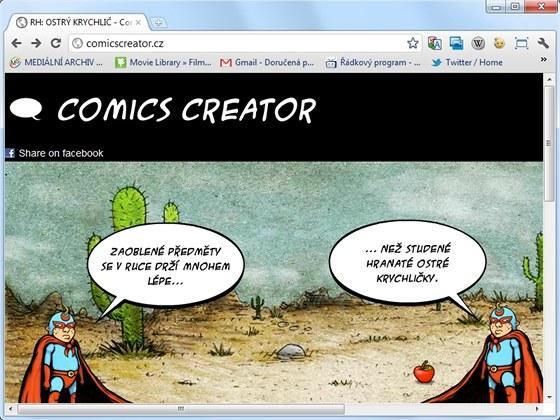 S online aplikací Comics Creator si snadno a rychle vytvoříte komiksový strip