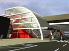 Vizualizace budoucí podoby Svinovských mostů.