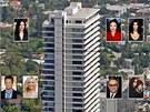 Výškový bytový dům Sierra Towers navrhl americký architekt Jack A. Charney v