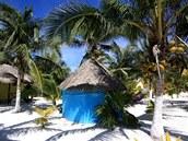 cabana na pláži v Tulum