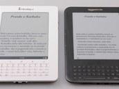 Porovnání stejné knížky na dvou čtečkách