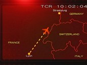Trase letu Airbusu A320 společnosti Air Inter, který ztroskotal 20. ledna 1992