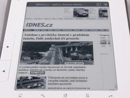 iDNES.cz v prohlížeči čtečky eReading