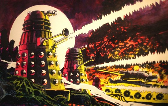 Takto Daleka zobrazovali v komiksu.