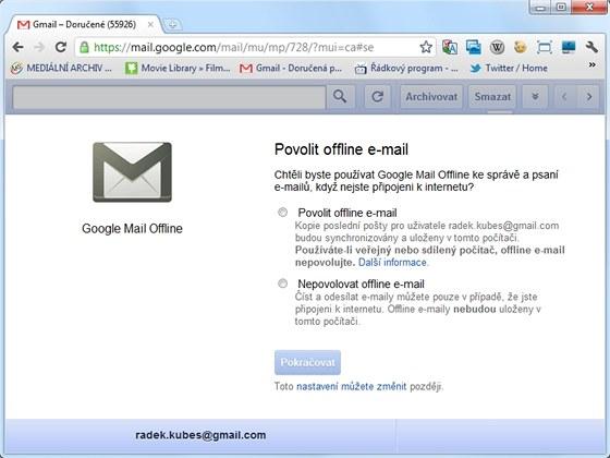 Rozšíření Offline Google Mail vám zpřístupní e-maily se serveru Gmail i bez