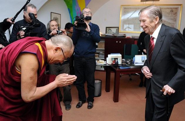 Naposled se Václav Havel na ve�ejnosti objevil p�i náv�t�v� tibetského...