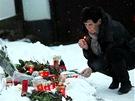 Pietn� m�sto u chalupy V�clava Havla na Hr�de�ku, kde b�val� prezident zesnul