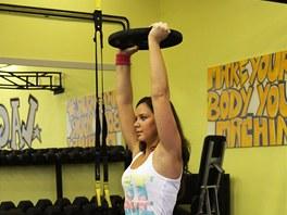 Výpad s kotoučem. Hlavní zapojené svalstvo na hýždích a stehnech + zabírají