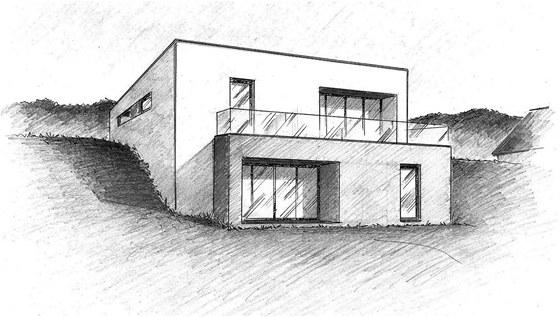 Kvalitní architekt Vás dokáže přesvědčit beze slov skicou. Ne pouze naučenou