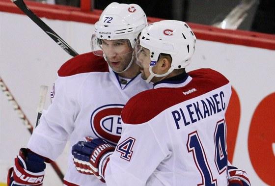 Tom� Plekanec slav� g�l Montrealu.