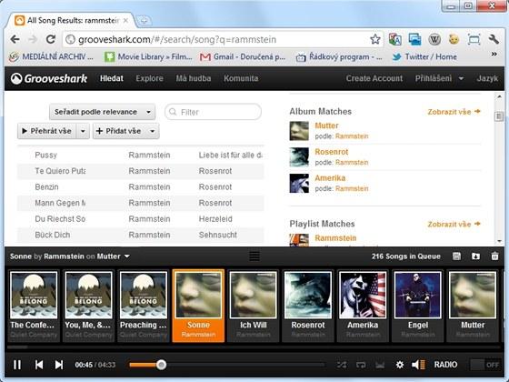 Za přístup k obrovské databázi hudebního serveru Grooveshark nemusíte zaplatit