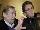 Václav Havel a Lou Reed na Cenách Jindřicha Chalupeckého v Praze (12. listopadu