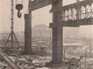 Ačkoliv stavba nové ocelárny začala už za druhé světové války jako pobočný