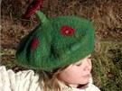Plstěný dětský baret (autorka Munte z Bílovic nad Svitavou, 666 Kč)