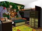 Pohled do dětského pokoje, který je na přání čtenářů navržený pro dvě děti.