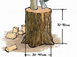 Ideální rozměry špalku
