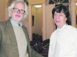 František Kinský s klavíristou Vladimírem Županem v předvečer štědrého dne v
