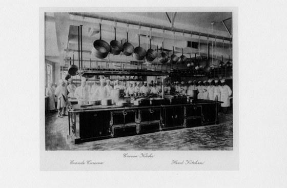 Původní podoba - kuchyně hotelu Imperial