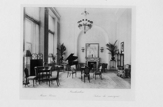 Původní podoba - kavárna hotelu Imperial