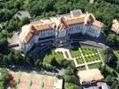 Letecký pohled na hotel Imperial a jeho okolí