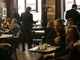 Interiér kavárny Hawelka