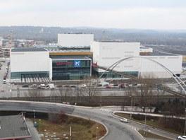 Pohled na dostavovan� obchodn� centrum Nov� Karolina v Ostrav�. (29. prosince
