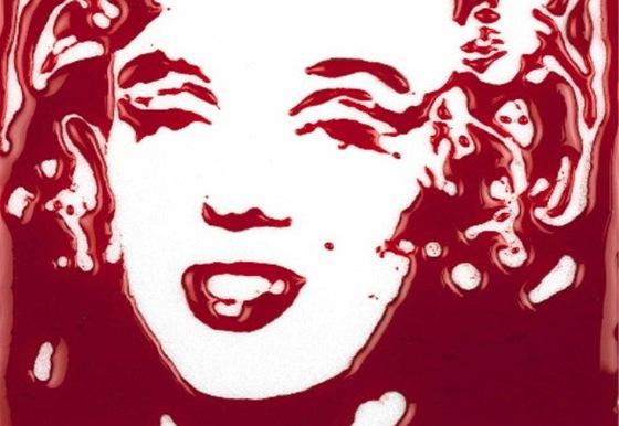 Vik Muniz: Marilyn Monroe (krev)