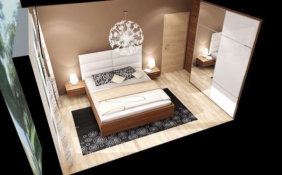 Ložnice Amélie s vysokým čelem postele