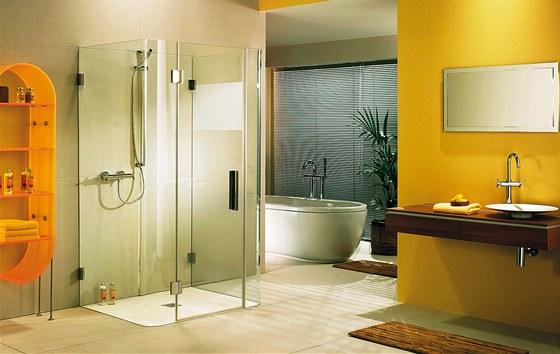 Celoskleněný sprchový kout působí esteticky, pozor jen na volbu vhodného skla,