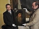 Autoportrét Leonarda da Vinci zapůjčený na zámek Zbiroh