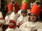 V T�eboni za�ala leto�n� T��kr�lov� sb�rka po�ehn�n�m koledn�k�m v kostele.