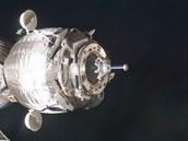 Sojuz TMA-03M při přiblížení k ISS, konkrétně modulu Rassvet 23.prosince
