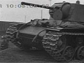 Vagónování sovětského těžkého tanku KV-1