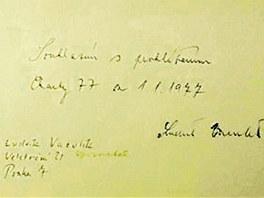 Podpis Ludvíka Vaculíka pod Chartou 77