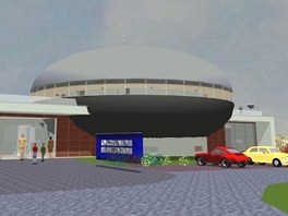 Vizualizace budovy nového hradeckého planetária