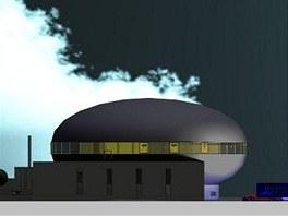 Vizualizace budovy nov�ho hradeck�ho planet�ria
