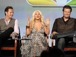 Christina Aguilera s kolegy ze soutěže The Voice (Hlas)