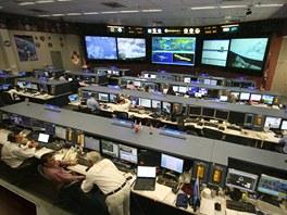 Nové Středisko řízení vesmírných letů, ze kterého je monitorována a